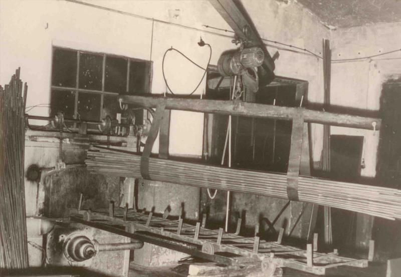 Transport von Rohren 1956