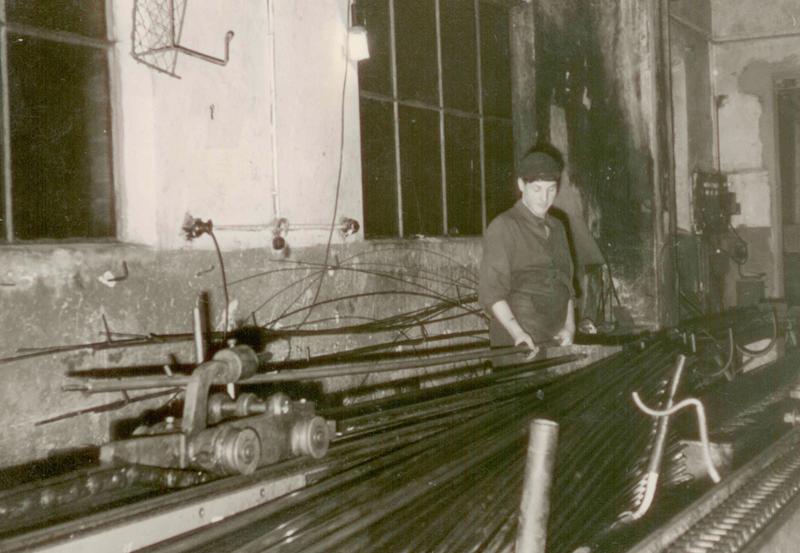 Ziehen von Rohren 1955
